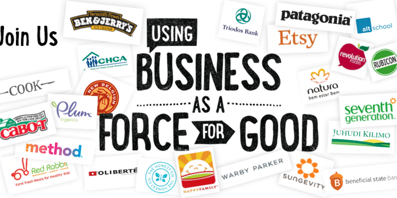 B Corp business as a force for good